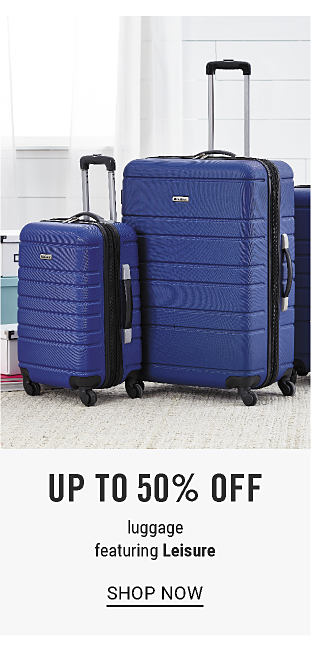 Extra 15% off regular & sale home purchases with coupon. A blue two piece hardside luggage set. up to 50% off luggage featuring Leisure. Shop now.