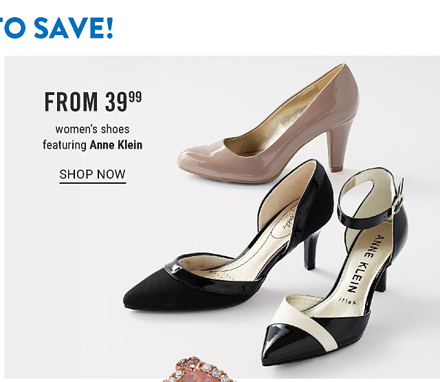 An assortment of women's heels in a variety of colors & styles. From $39.99 women's shoes featuring Anne Klein. Shop now.