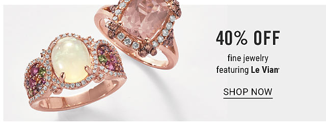 An opal, diamond, gold & chocolate diamond ring & a diamond, gold & chocolate diamond ring. 40% off fine jewelry featuring Le Vian. Extra 20% off regular & sale fine jewelry purchases with coupon. Shop now.