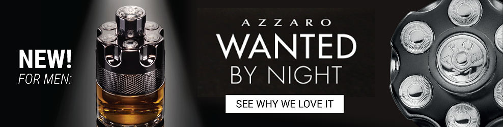 A bottle of men's fragrance. New! For men, Azzaro Wanted by Night. See why we love it.