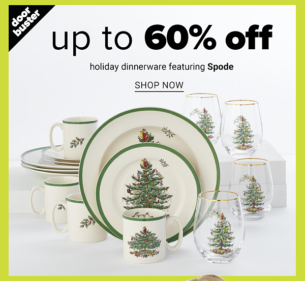 Up to 60% off Holiday Dinnerware featuring Spode - Shop Now