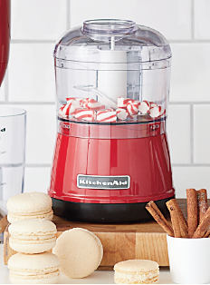 A red KitchenAid food processor. Shop small appliances.