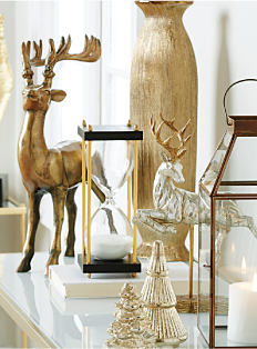 An assortment of holiday-themeed decor. Shop Christmas Home.