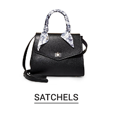 A black satchel. Shop satchels.