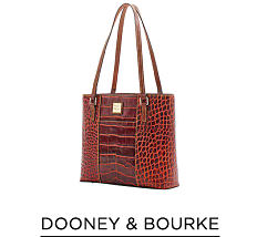 A red croco leather tote. Shop Dooney & Bourke.