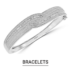 A silver bracelet. Shop bracelets.