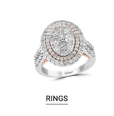 A silver ring with diamonds. Shop rings.