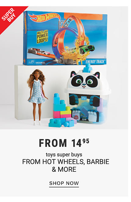 A variety of toys. Super buy. From 14.95 toys super buys from Hot Wheels, Barbie and more. Shop now.