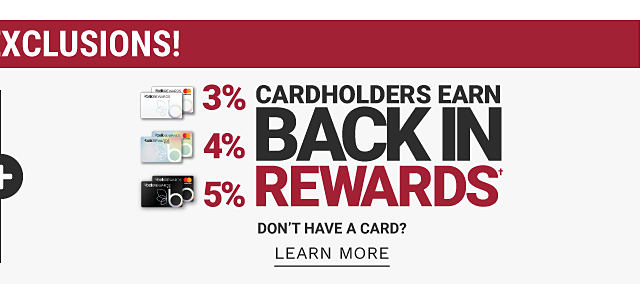 Plus Cardholders earn back in rewards. Don't have a card? Learn more.