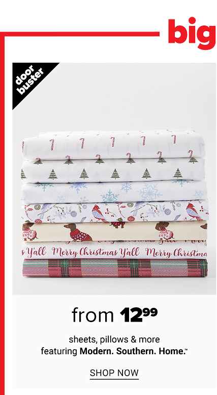 Biggest One Day Sale. A stack of folded sheets in a variety of colors, prints & styles. Doorbuster. From $12.99 sheets, pillows & more. Shop now.