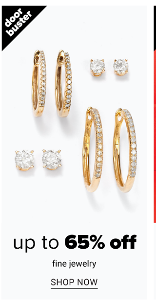 An assortment of gold & diamond earrings. Doorbuster. Up to 65% off fine jewelry. Shop now.