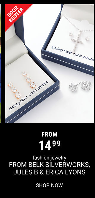 Boxed sterling silver & cubic zirconia earrings & a boxed sterling silver & cubic zirconia pendant necklace. DoorBuster. From $14.99 fashion jewelry from Belk Silverworks, Jules B & Erica Lyons. Shop now.