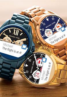 An assortment of men's smart watches. Shop men's watches.