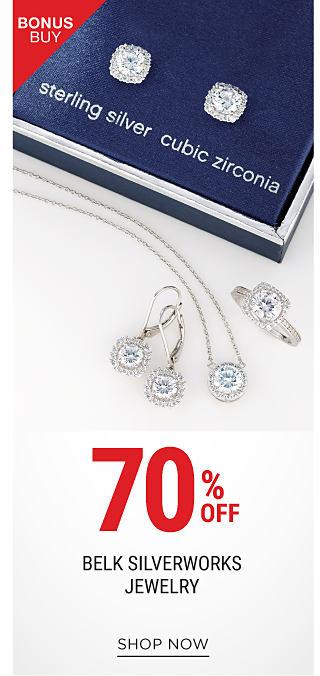 3 pairs of sterling silver & cubic zirconia earrings. Bonus Buy. 70% off Belk Silverworks. Shop now.