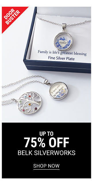 2 different styles of silver plate pendant necklaces. A boxed silver plate pendant necklace. DoorBuster. Up to 75% off Belk Silverworks. Shop now.