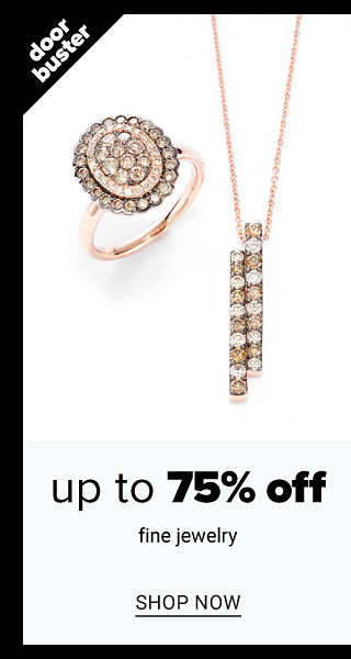 An assortment of gold, diamond & chocolate diamond rings & necklaces. Doorbuster. Up to 75% off fine jewelry. Shop now.