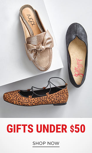 An assortment of flats in a variety of colors & styles. Gifts Under $50. Shop now.