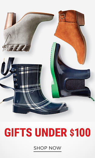 An assortment of boots & booties in a variety of colors & styles. Gifts Under $100. Shop now.
