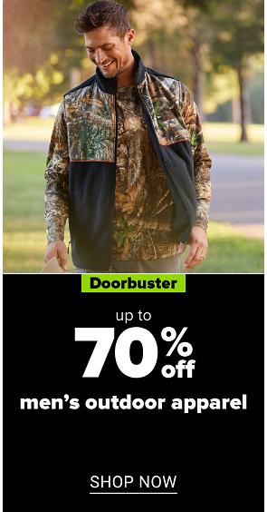 70% off men's outdoor apparel shop now.