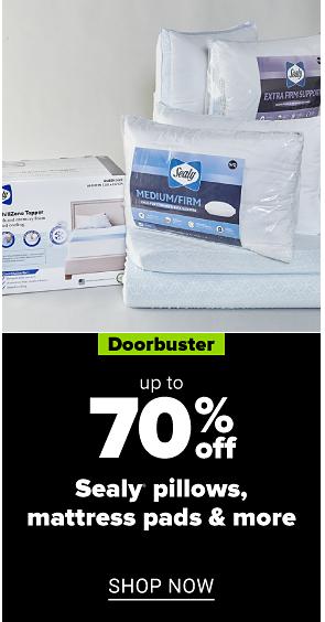 70% off pillows, mattress pads & more shop now