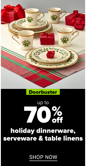 BFDB: Up to 70% off Holiday Dinnerware, Serveware and Table Linens