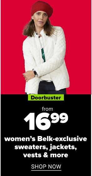 from 14.99 Belk-exclusive vests, sweaters & more shop now