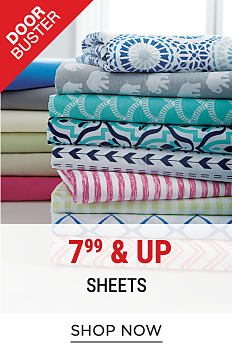 2 stacks of folded bed sheets in a variety of colors & patterns. Shop now.