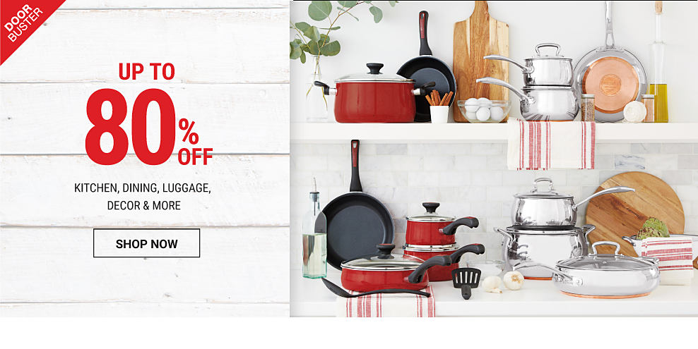 A row of Kitchenaid bowl mixers in a variety of colors. A toy train on a train track. Online Only. Up to 80% off Black Friday Home DoorBusters. Shop now.