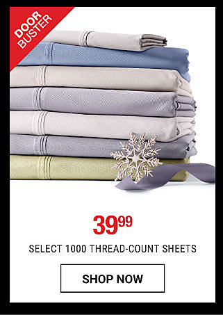A stack of folded bed sheets in a variety of pastel colors. DoorBuster. 39.99 1000 thread-count sheets. Shop now.