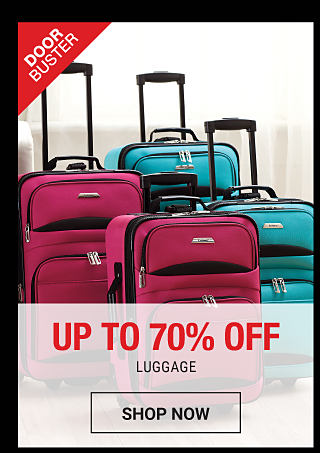 Fuchsia & teal wheeled luggage. DoorBuster. Up to 70% off luggage. Shop now.