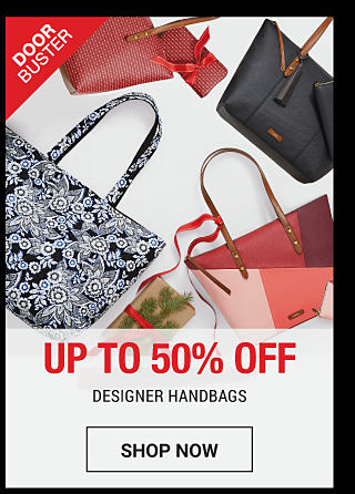 A black leather handbag with brown leather trim & a blue leather handbag with brown leather trim. DoorBuster. Up to 50% off designer handbags. Shop now.