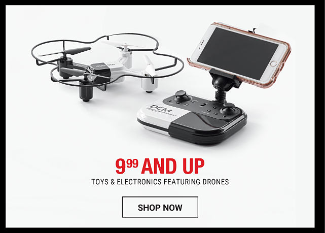 A drone & a remote control. 9.99 & up toys & electronics featuring drones. Shop now.