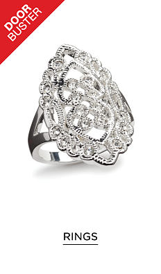 A silver & gemstone fashion ring. DoorBuster. Shop fashion rings.