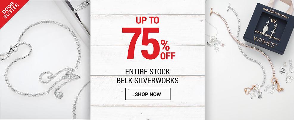 An assortment of Belk Sivlerworks boxed jewelry. DoorBuster. 75% off Entire Stock Belk Silverworks. Shop now.