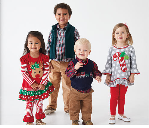 2 boys & 2 girls wearing various styles of holiday-themed apparel. DoorBuster. Up to 60% off sets from Kids Headquarters, Rare Editions & more. Shop now.