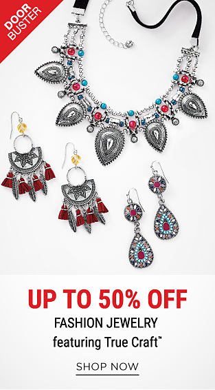 An assortment of colorful bohemian style fashion jewelry. DoorBuster. 75% off fashion jewelry featuring True Craft. Shop now.