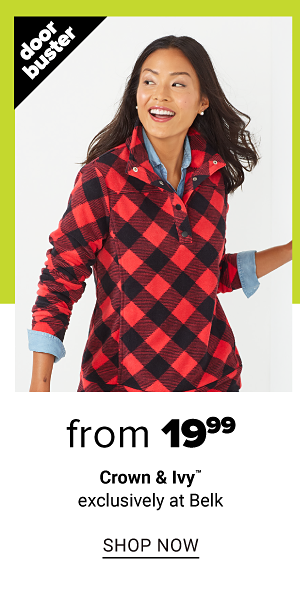 from 19.99 and up women's crown and ivy exclusively at belk - Shop Now
