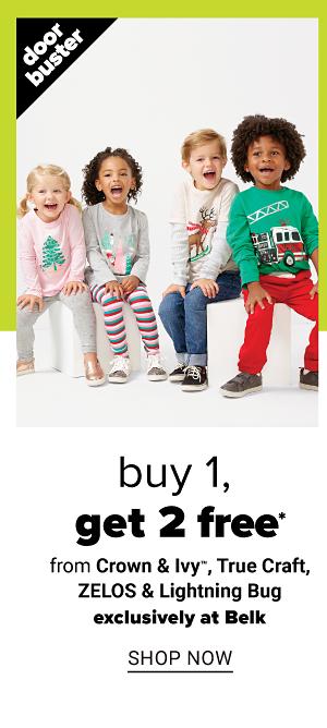 Buy 1, Get 2 FREE from Crown & Ivy, True Craft, ZELOS & Lightning Bug - Shop Now