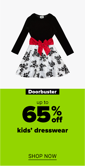 A girls velvet to flocked burnout skirt dress. Doorbuster up to 65% off kids' dresswear. Shop now.