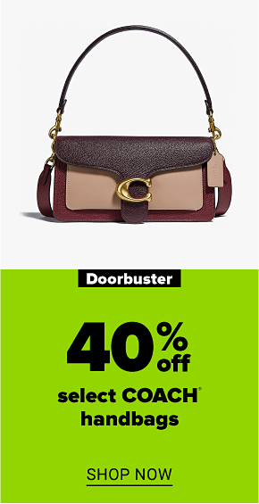 A Coach tabby shoulder bag. Doorbuster 40% off select Coach handbags. Shop now.