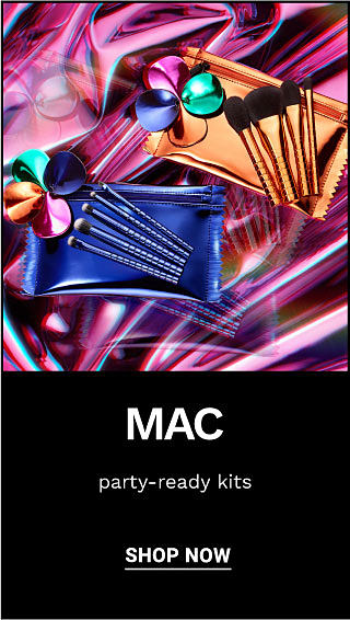 2 MAC makeup bags and brushes. MAC. Party-ready kits. Shop now.