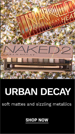 2 eye shadow palettes. Urban Decay. Soft mattes and sizzling metallics. Shop now.