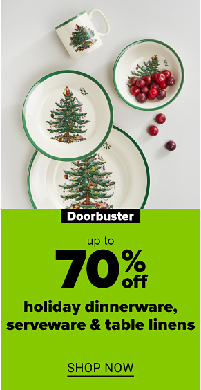 A set of Christmas tree dinnerware. Doorbuster. Up to 70% off holiday dinnerware, serveware and table linens. Shop now.
