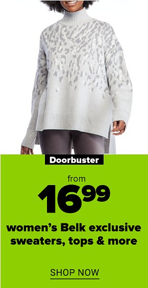 An assortment of women's cable knit crew neck sweaters. Doorbuster. From $16.99 women's sweaters. Shop now.