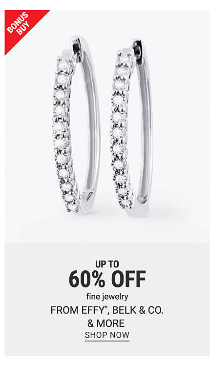 White gold earrings with diamonds. Bonus buy. Up to 60% off fine jewelry from Effy, Belk and Co., and more. Shop now.