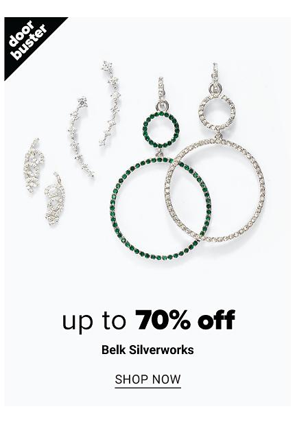 An assortment of black silver tone & cubic zirconia earrings. Doorbuster. Up to 70% off Belk Silverworks. Shop now.