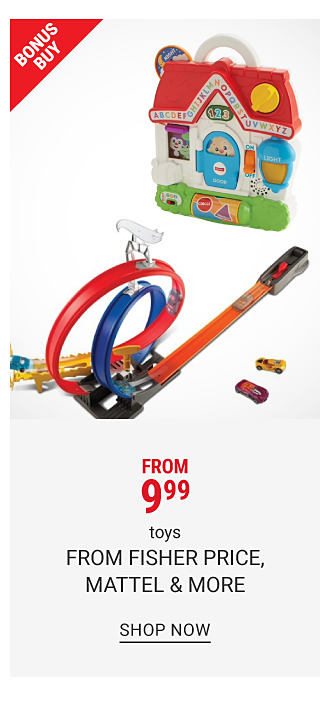 A multi colored children's learning toy. A toy race car play set. Bonus Buy. From $9.99 toys. Shop now.