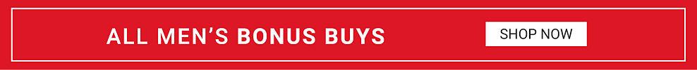 All mens bonus buys Shop now.