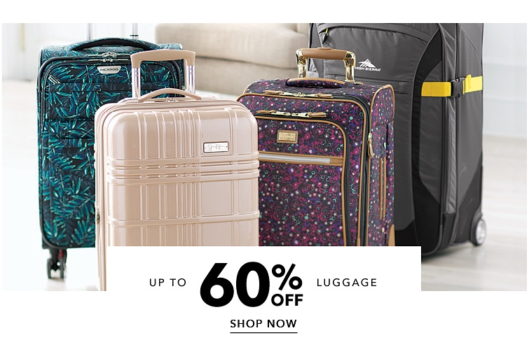 Up To 60% Off Luggage | shop now