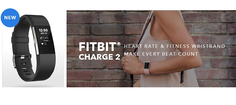 New | Fitbit Charge 2 | Heart Rate & Fitness Wristband